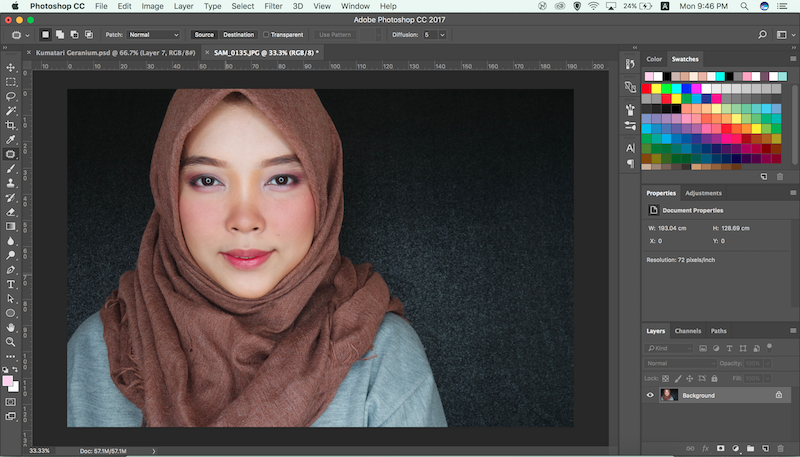 Cara meniruskan pipi dengan photoshop