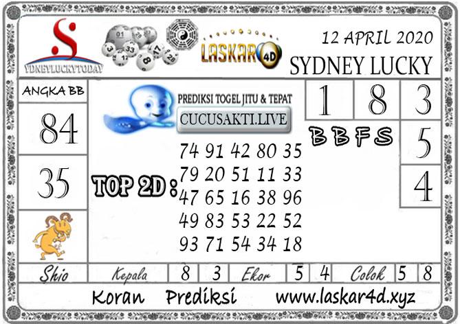 Prediksi Sydney Lucky Today LASKAR4D 12 APRIL 2020