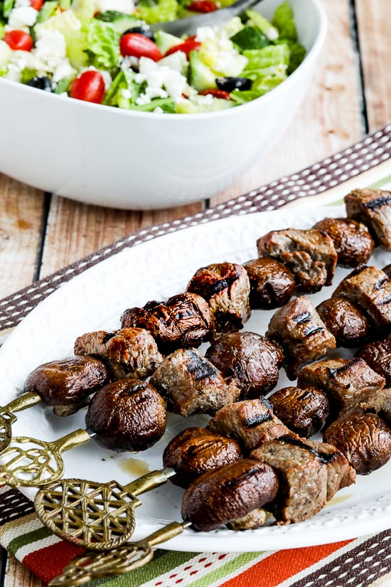 Low-Carb Grilled Steak and Mushroom Kabobs Recipe | Kalyn's Kitchen