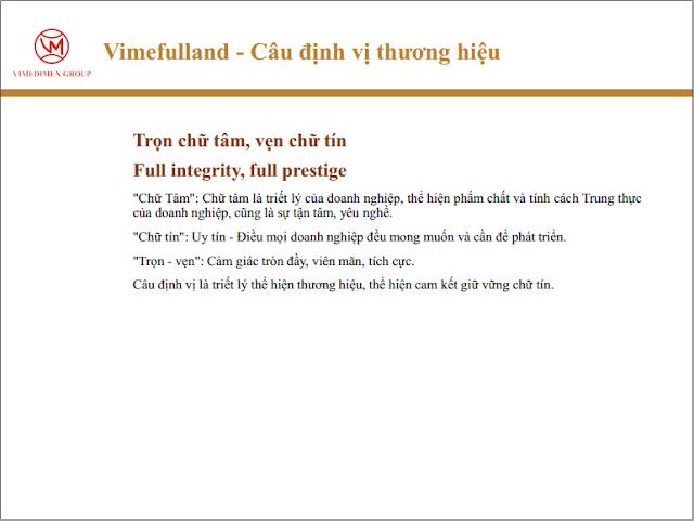 Định vị thương hiệu Vimefulland