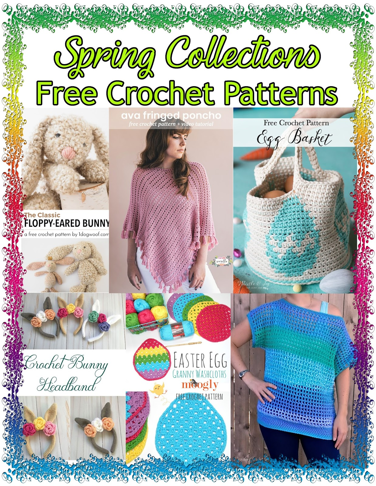 Si Nanay Madel: FREE PATTERNS ROUNDUP: Spring Collections