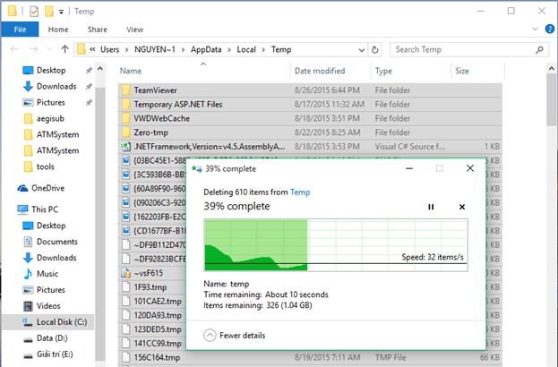 Cách xóa file rác tăng tốc độ máy tính Windows