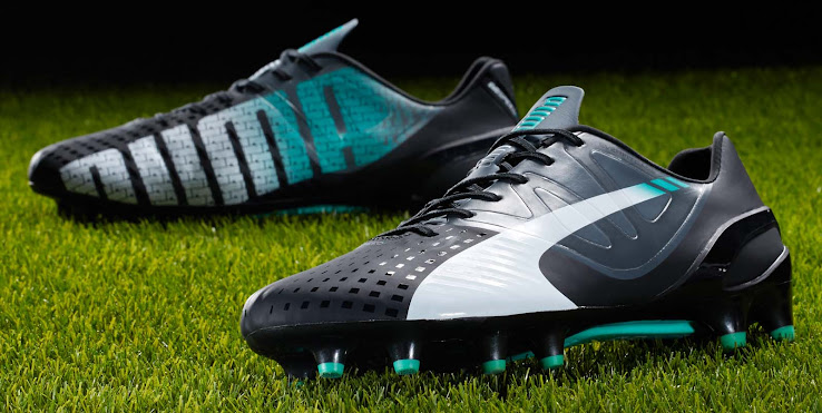 Black   Turquoise Puma evoSPEED 1.3 14-15 Boot Released - Footy Headlines 50adeb56df4d