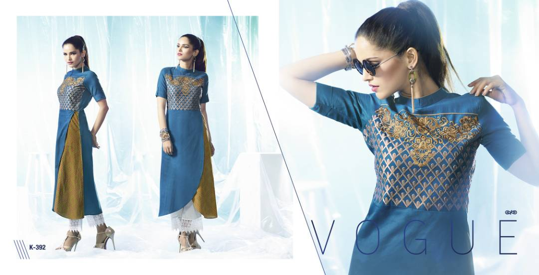 Artery – Attractive Designer Glaze Cotton Kurti Wholesale Rate