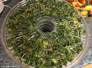 Dehydrating kale for kale crisps