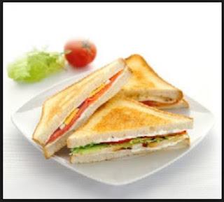 Sandwich Keju Bakar Isi Telur