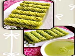 Gambar Resep Kue Kering Egg Roll Pandan