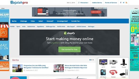 Majalahpro: Theme WordPress Portal Berita