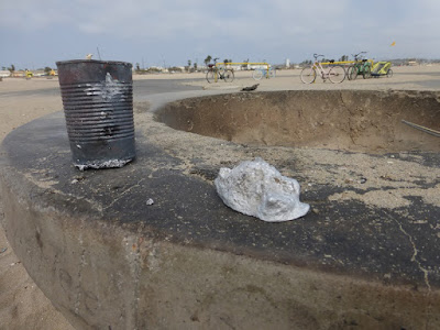 aluminum ingot poured at the beach