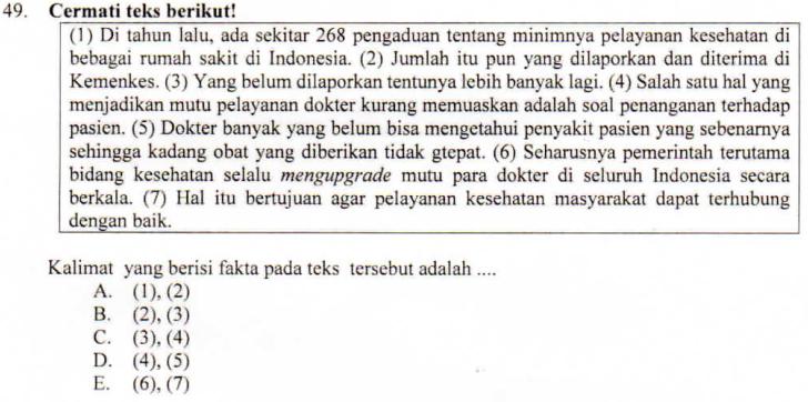 Membedakan Kalimat Fakta Dan Opini Zuhri Indonesia