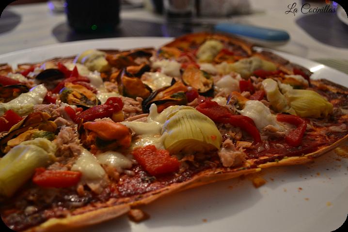 Casera masa pizza preparar como batida para