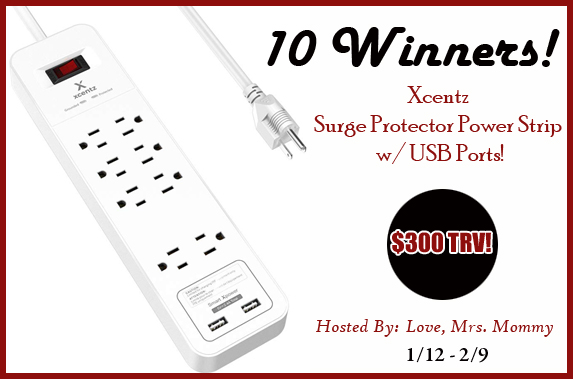 Surge Protector Power Strip w/USB Ports