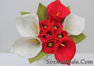 Keçe Çiçek Buketi Modelleri