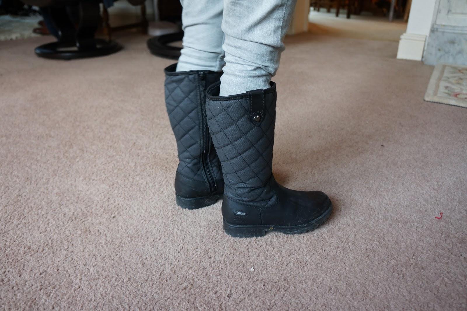 black goretex clarks kids boots