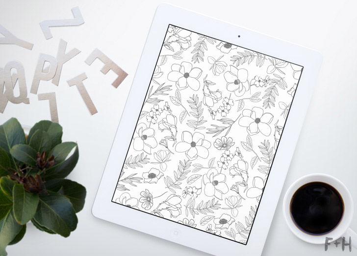 free floral ipad wallpaper