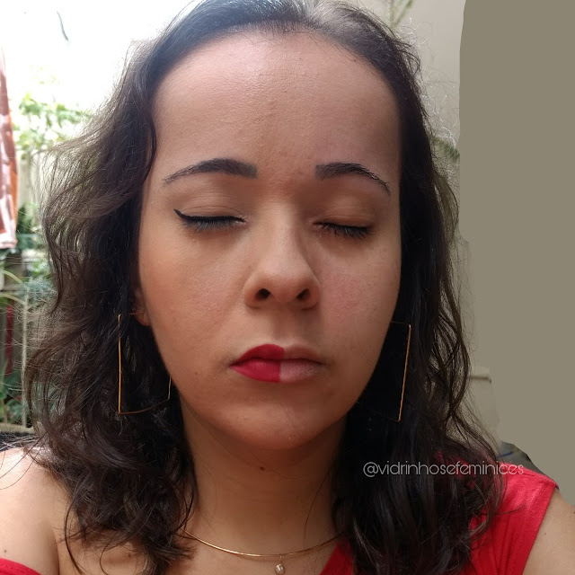 Maquiagem com base bege 1 e corretivo médio 1  Anita Cosméticos