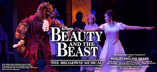 Beast and Beauty dancing in YPT 2017 production of the Broadway Musical