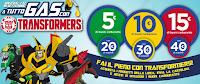 Logo Transformers ti regala buoni carburante da 5,10 e 15 euro