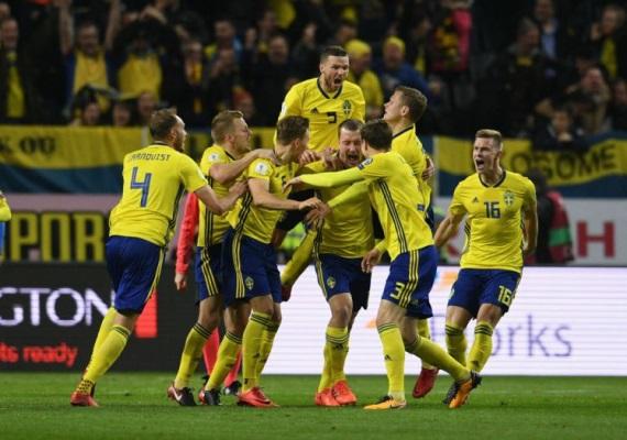 Sweden celebrate a goal