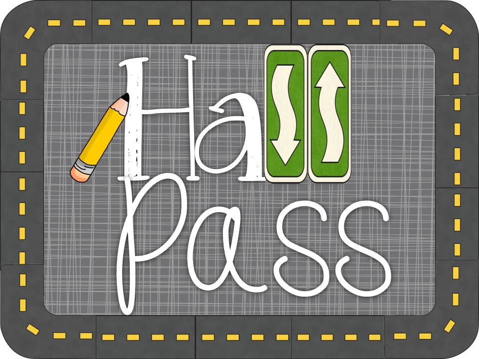 image about Hall Pass Printable titled Downeast Coach: Corridor P Linky!