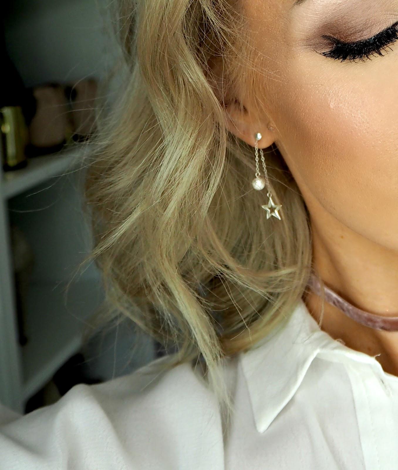 Jewellerybox.co.uk sterling silver stud drop star earrings