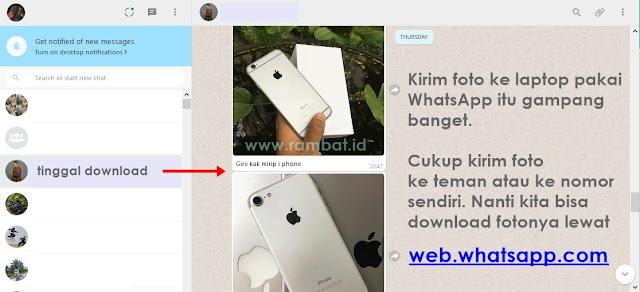Cara Memindahkan Foto dari HP ke PC/Laptop dengan WhatsApp