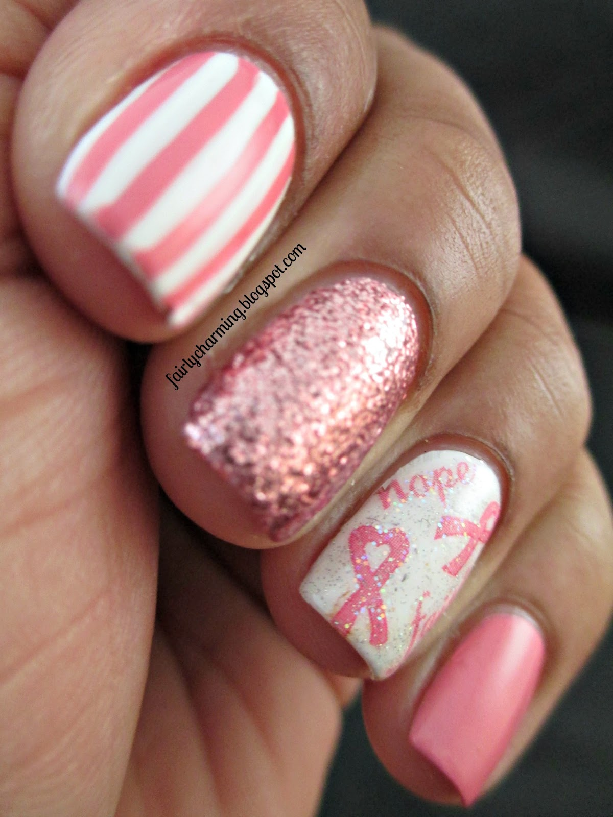 Nail Art Trends: Fairly Charming: Joby Nail Art's Fight Against Breast Cancer