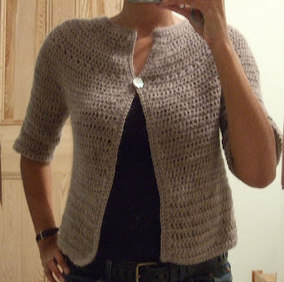 Crochet For Free Top Down Round Yoke Cardigan Woman Size