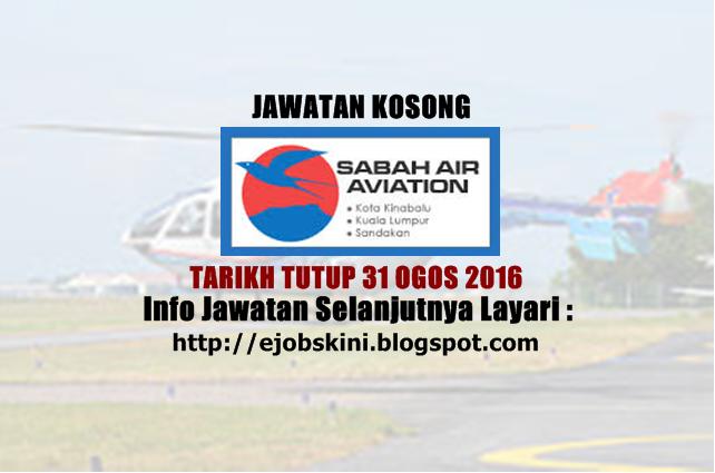 Jawatan Kosong Sabah Air Aviation Sdn Bhd