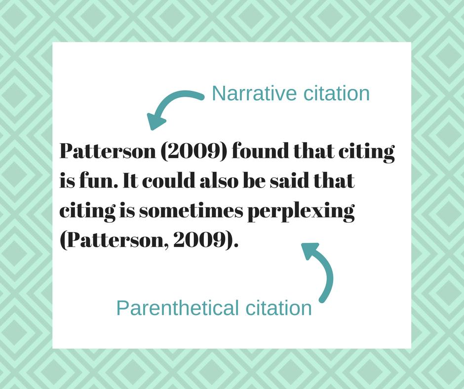 demystifying narrative vs parenthetical citations