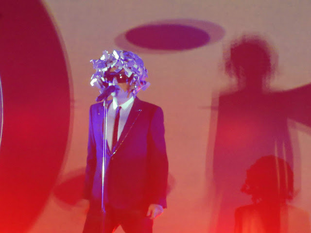 Neil Tennant of the Pet Shop Boys in concert in Birmingham, England