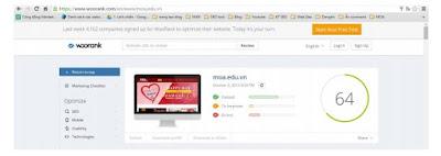Công Cụ Hỗ Trợ SEO Woorank đánh giá website