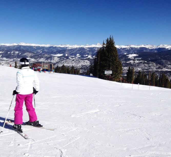 skiing at breck