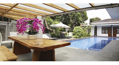 kolam renang Triple C Guest House Lembang