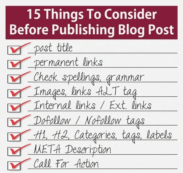 Things To Consider Before Publishing Blog Post