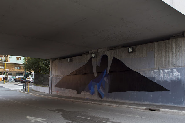 """Batman"" New Abstract Street Art Piece by Italian Artist 108 on the streets of Rome, Italy. 2"