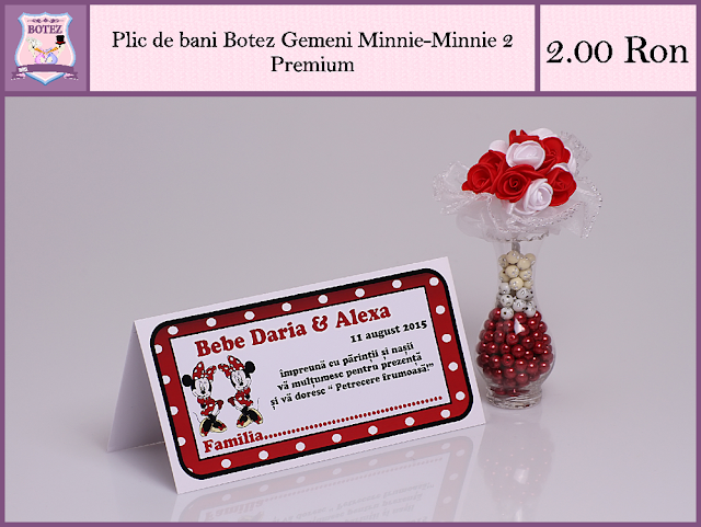 produse asortate botez gemeni fata-fata Minnie 2