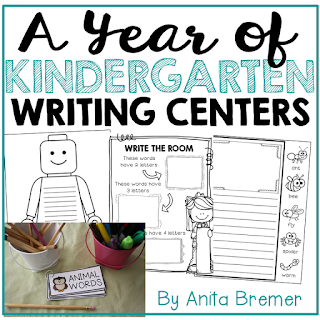 Lots of writing center activities and ideas for Kindergarten- perfect for Daily 5!