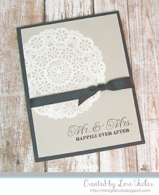 Mr. & Mrs. card-designed by Lori Tecler/Inking Aloud-stamps from Clear and Simple Stamps