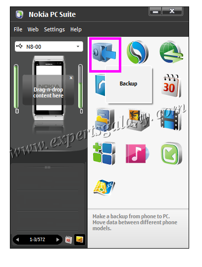 Take Nokia Mobile Backup