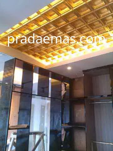 gold leaf plafon finish
