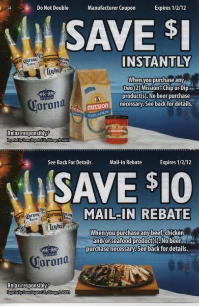 Corona beer coupons printable