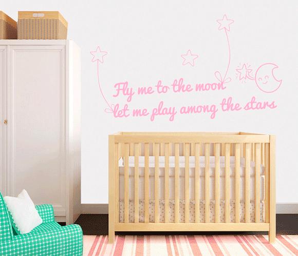Decorando las paredes con vinilos infantiles blog f de for Frases para cuartos de ninas