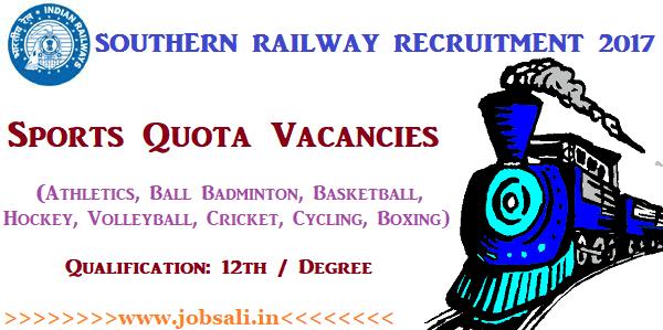 Southern Railway Job Vacancies, Railway Vacancy, Railway Jobs