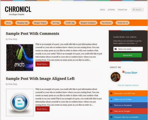 Chronicl Blogger Template