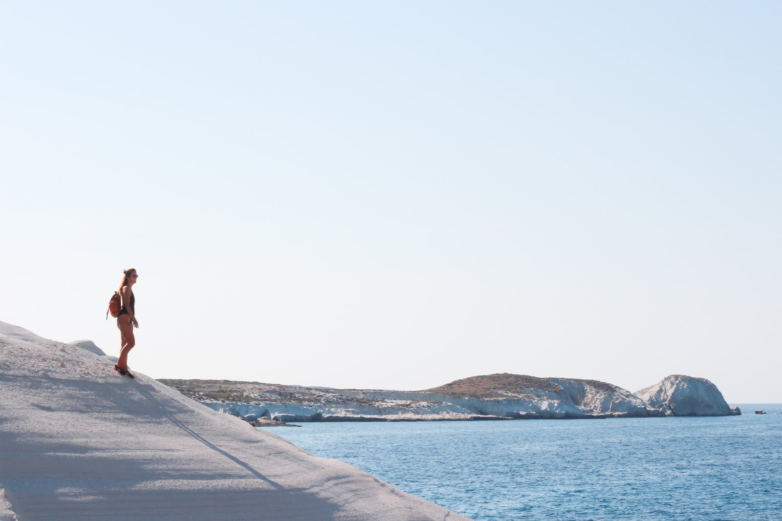 Sarakiniko Beach Cliffs in Milos island, Greece