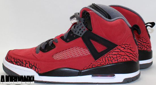 newest 8b8d6 3632e Set to officially release on Saturday, October 20th, this Spiz ike comes in  a nice gym red, dark grey, black and white, Featuring a red-based nubuck  upper ...