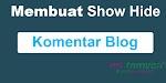 Cara Membuat Komentar Blog Menjadi Show Hide