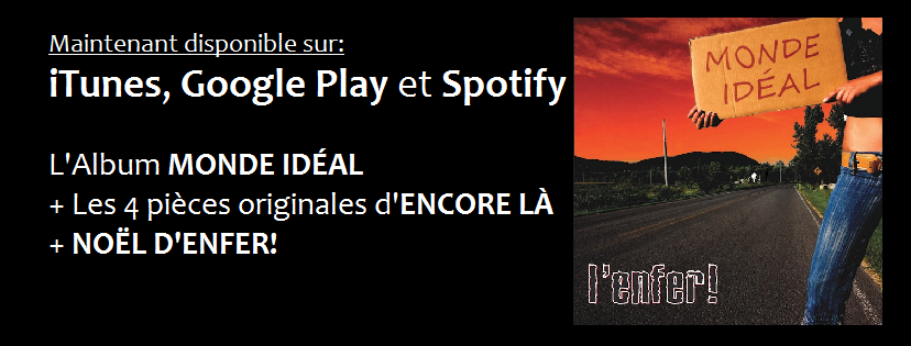 Maintenant Disponible sur iTunes, Google Play et Spotify