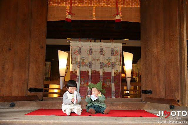 宇治上神社でのお宮参り出張撮影